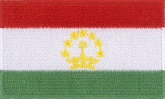 "Tajikistan Flag Patch 1.5"" x 2.5"""