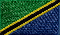 "Tanzania Flag Patch 1.5"" x 2.5"""