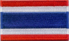 "Thailand Flag Patch 1.5"" x 2.5"""