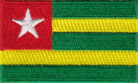 "Togo Flag Patch 1.5"" x 2.5"""