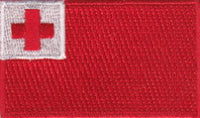 "Tonga Flag Patch 1.5"" x 2.5"""