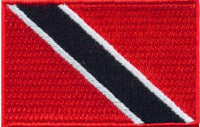 "Trinidad and Tobago Flag Patch 1.5"" x 2.5"""