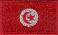 "Tunisia Flag Patch 1.5"" x 2.5"""