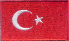 "Turkey Flag Patch 1.5"" x 2.5"""