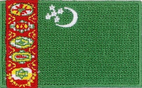 "Turkmenistan Flag Patch 1.5"" x 2.5"""