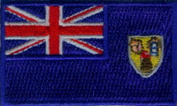 "Turks and Caicos Flag Patch 1.5"" x 2.5"""