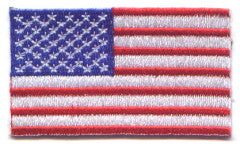 "United States of America / U.S.A. / USA Flag Patch 1.5"" x 2.5"""