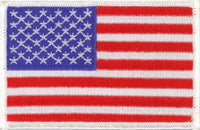 "United States of America / U.S.A. / USA Flag Patch 2.5"" x 3.5"""