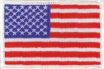 "United States of America / U.S.A. / USA Flag Patch 2"" x 3"""