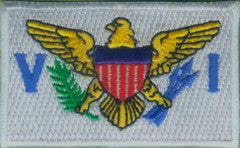 "U.S. / US Virgin Islands Flag Patch 1.5"" x 2.5"""