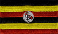 "Uganda Flag Patch 1.5"" x 2.5"""