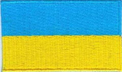 "Ukraine Flag Patch 1.5"" x 2.5"""