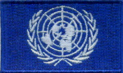 "United Nations / U.N. Flag Patch 1.5"" x 2.5"""