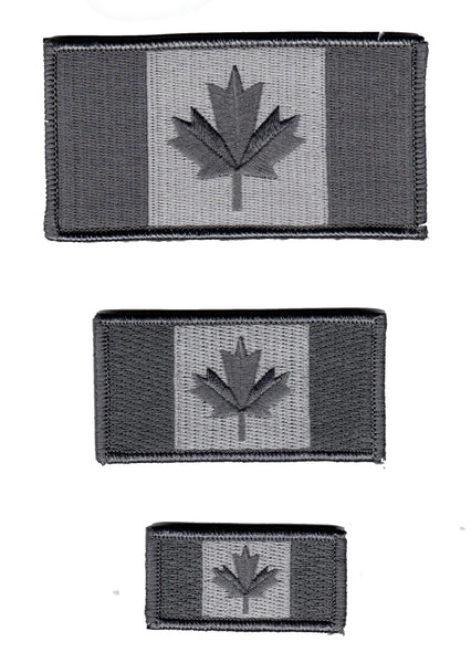 Canada Flag Patch Grey / Urban Subdued Design