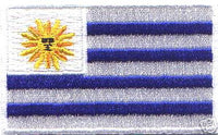 "Uruguay Flag Patch 1.5"" x 2.5"""