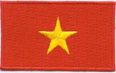 "Vietnam Flag Patch 1.5"" x 2.5"""