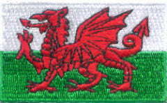 "Wales Flag Patch 1.5"" x 2.5"""
