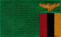 "Zambia Flag Patch 1.5"" x 2.5"""