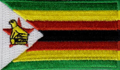 "Zimbabwe Flag Patch 1.5"" x 2.5"""