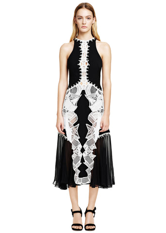 Lace Appliqué Contour Dress