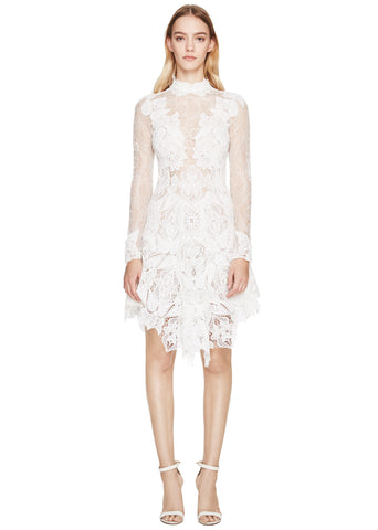 Multimedia Corded Longsleeve Lace Dress