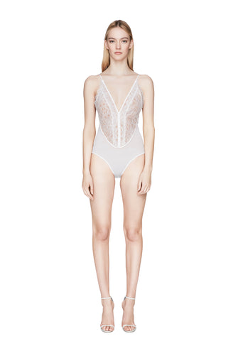 Mixed Trim Lace Bodysuit