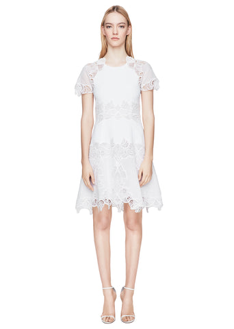 Eyelet Applique Tee Dress