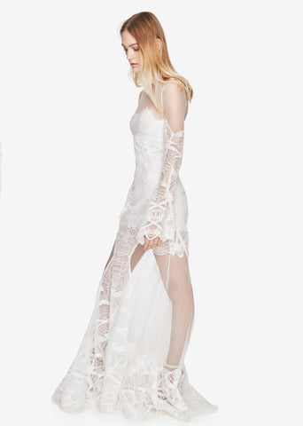 Lace Flare Sleeve Gown