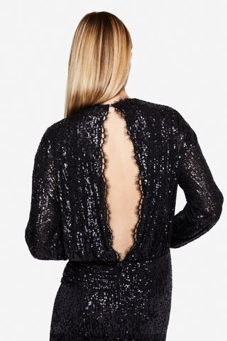 Sequin Embossed Gown
