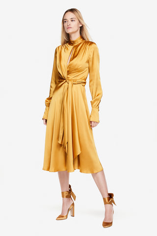Fluid Satin Midi Dress