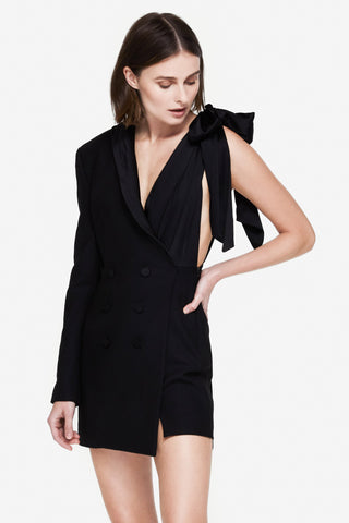 Luxe Wool Suit Dress