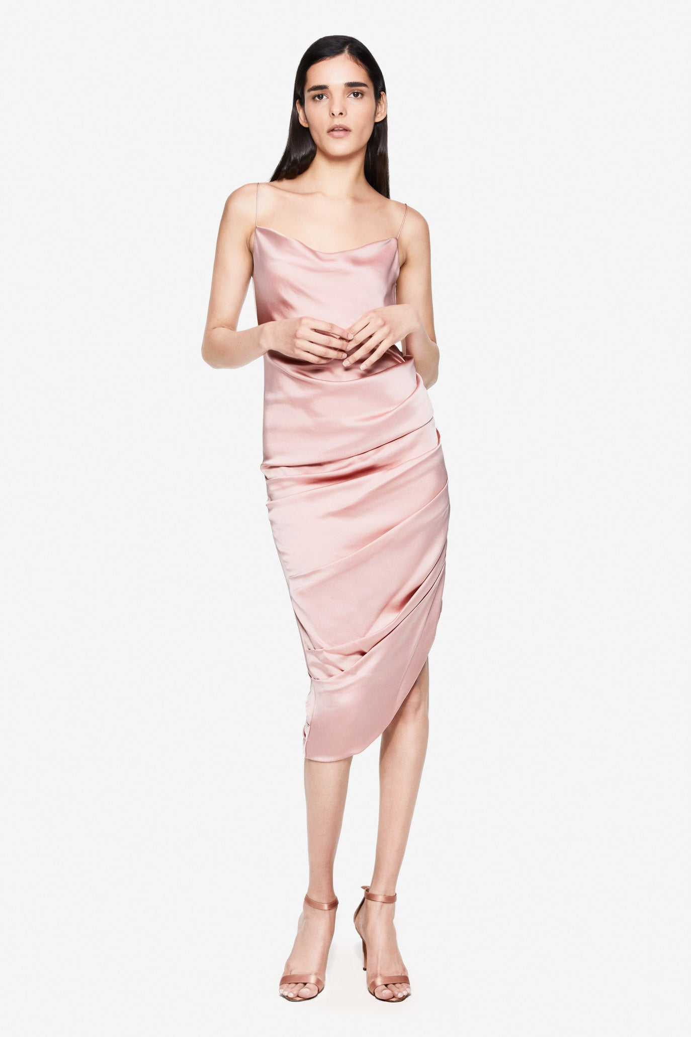 Fluid Satin Slip Dress