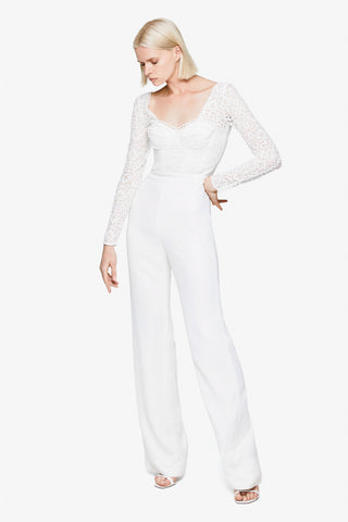 Multimedia Lace Jumpsuit