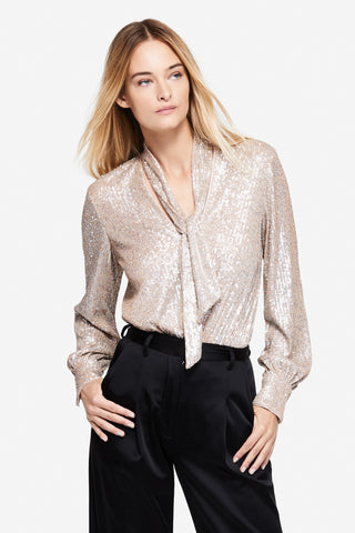 Sequin Embossed Longsleeve Bodysuit