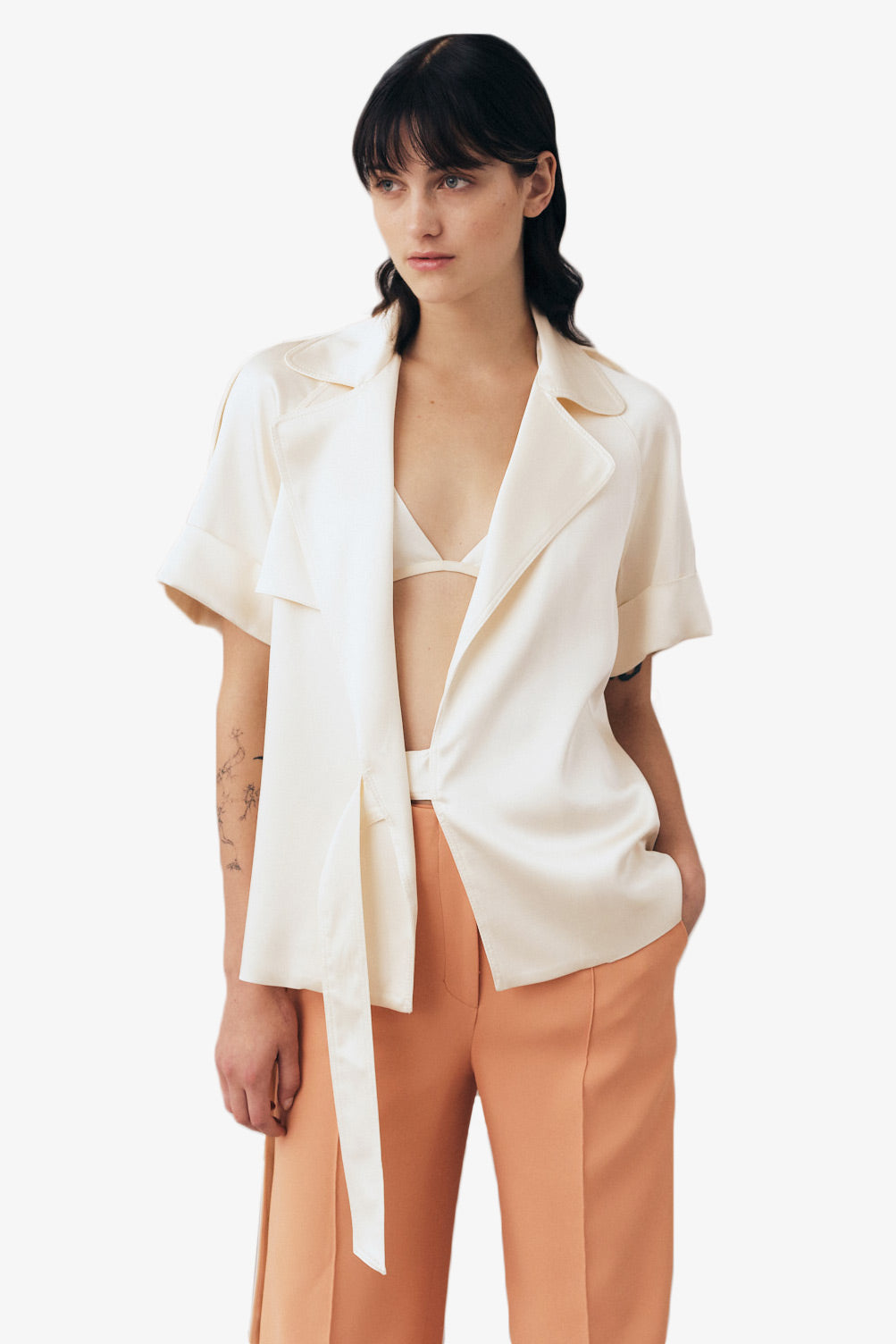 KELSEY FLUID SATIN TOP