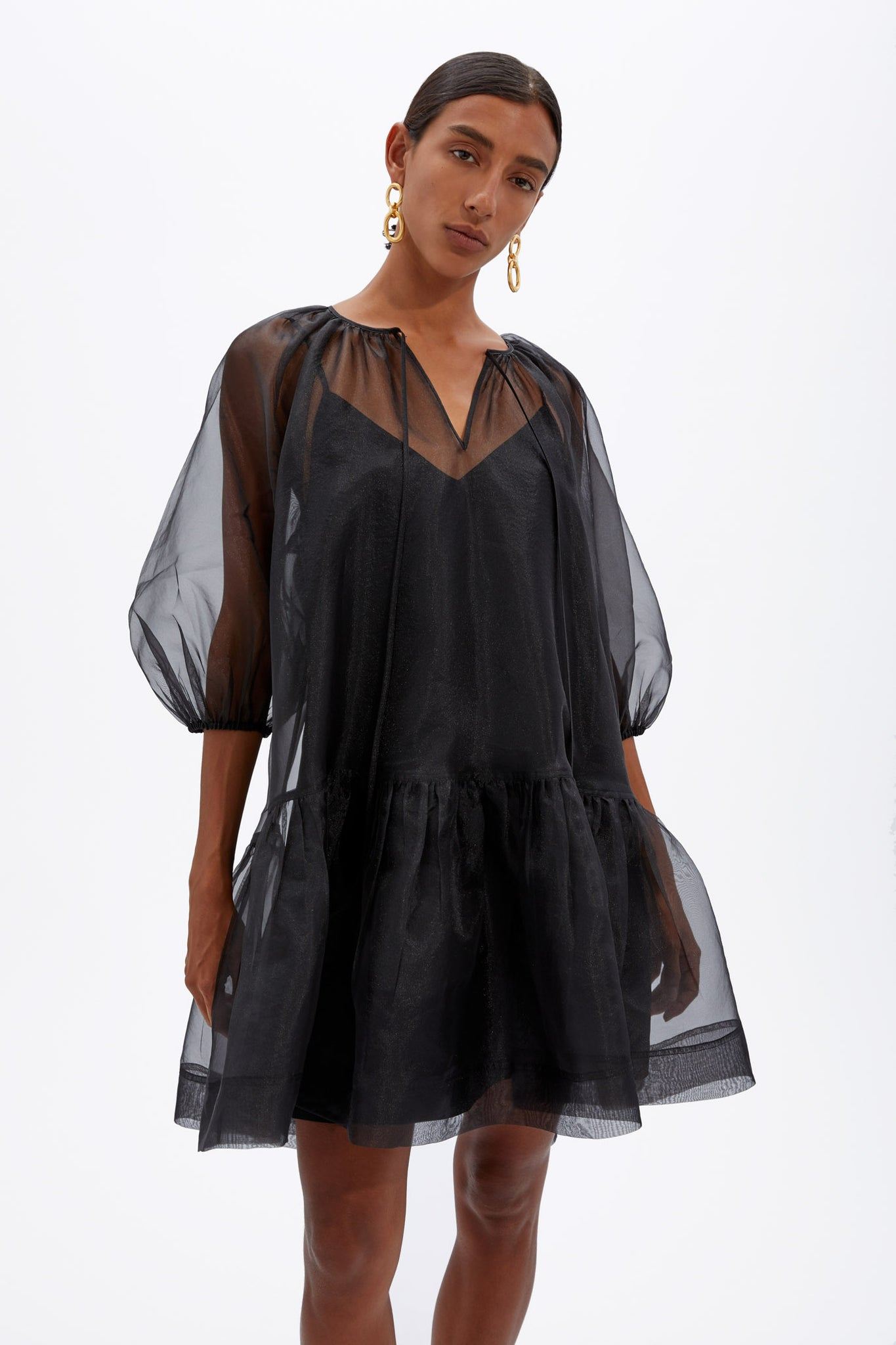 Everlee Eco-Organza Mini Dress