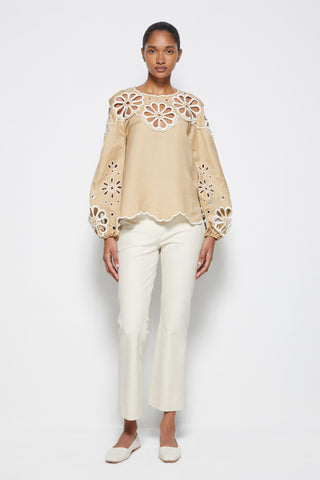 Sora Broderie Anglaise Top