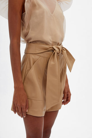 Mari Vegan Leather Shorts