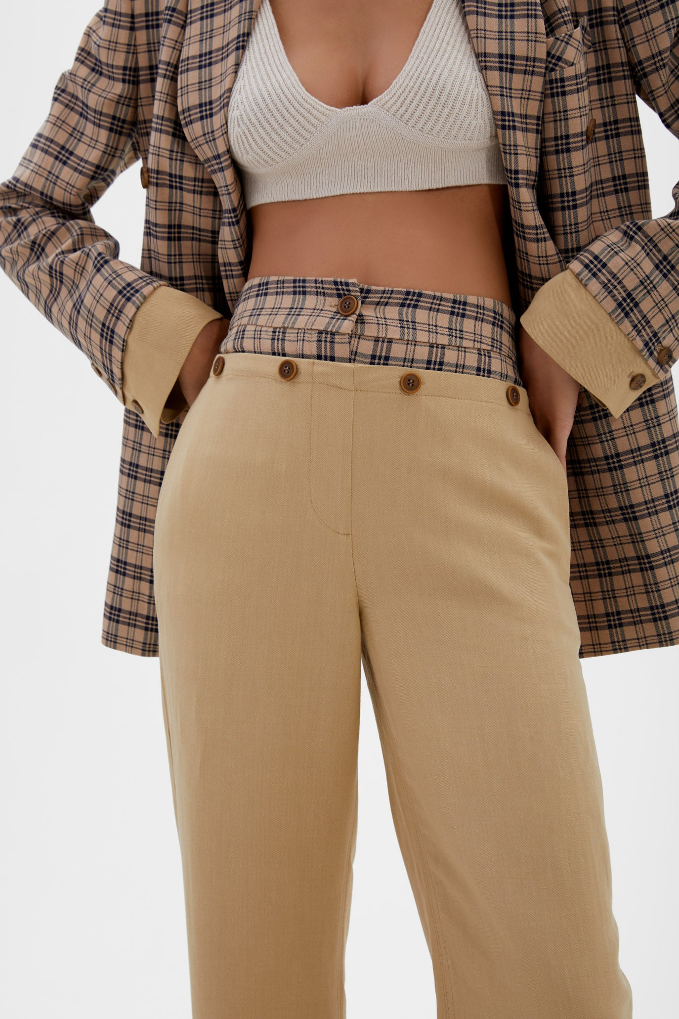 Janella Double Waisted Pant