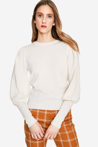 Cashmere Puff Sleeve Sweater