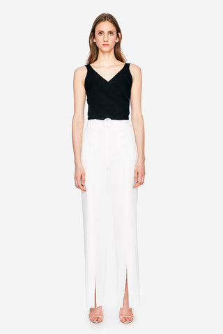 Pleated Waist Sailor Crepe Pant
