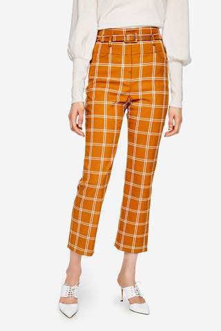Windowpane Belted E-Cig Pant