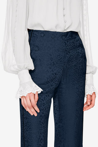 Silk Leopard Sailor Pant