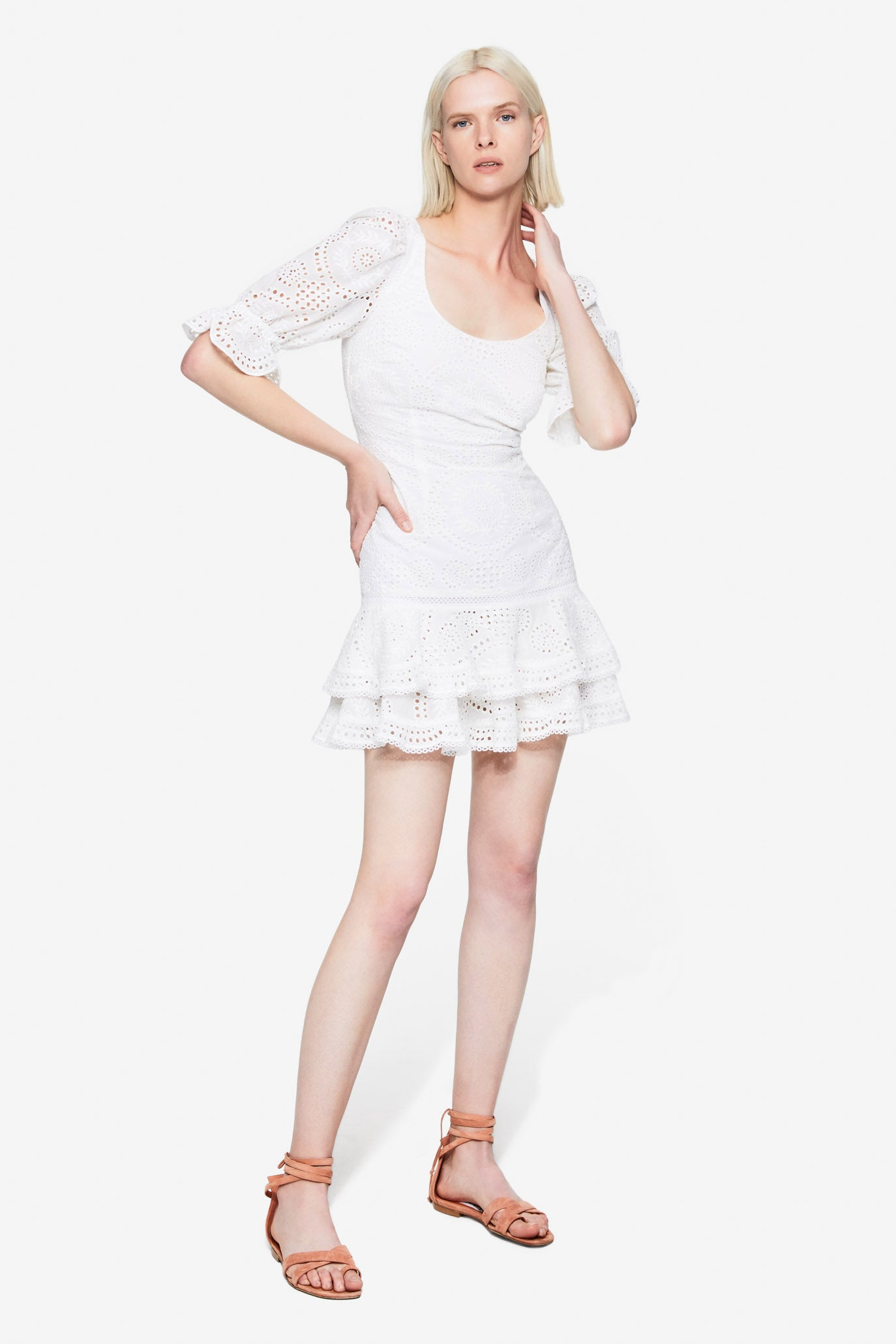 Meg Broderie Anglaise Mini Dress