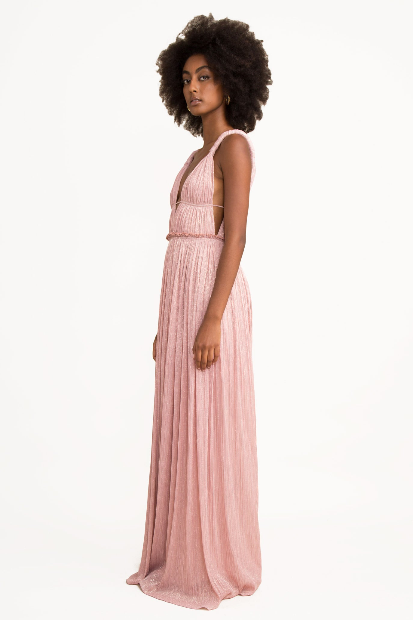 Camille Lame Goddess Gown