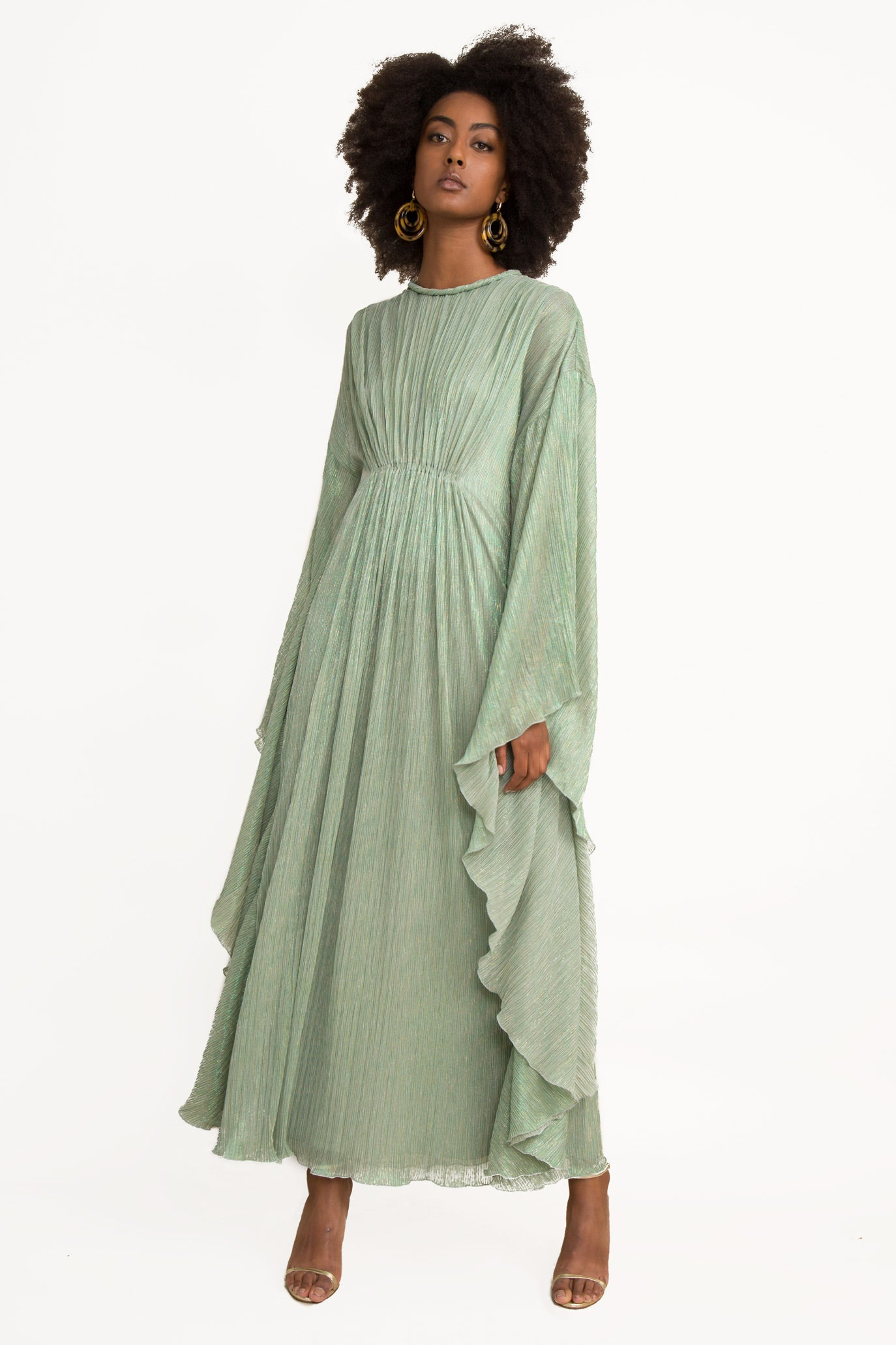 Farrah Lame Caftan Dress