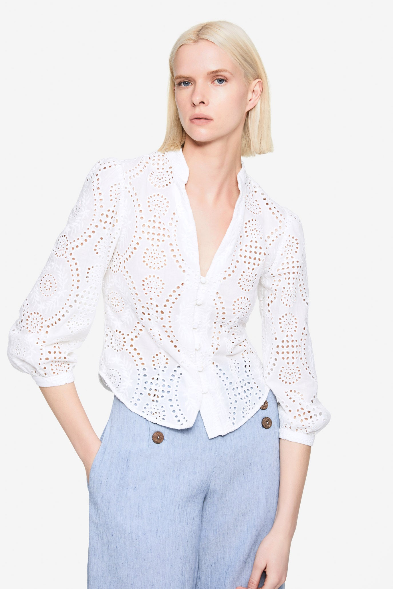 Alex Broderie Anglaise Top