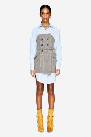 Glen Plaid Belted Dress