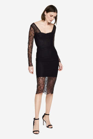 Embroidered Lace Bodysuit Dress