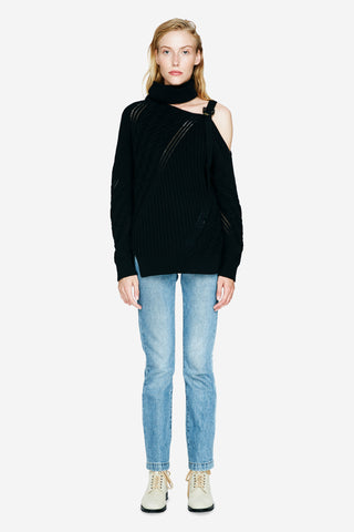 Strapped Wool Sweater